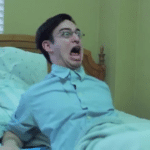 Filthy Frank waking up in bed, scared  meme template blank YouTube
