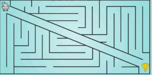Easy Mouse Maze Food meme template
