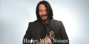 Happy Wick Noises Keanu meme template