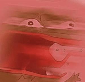 Pepe Screaming, Angry Pepe meme template