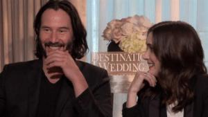 Winona Ryder looking at Keanu Reeves Keanu meme template