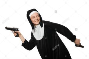 Nun with guns Gun meme template