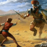 David vs. Goliath  meme template blank