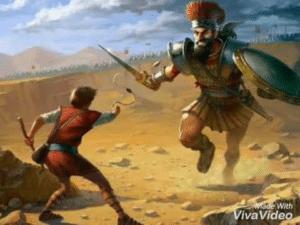 David vs. Goliath Killing meme template