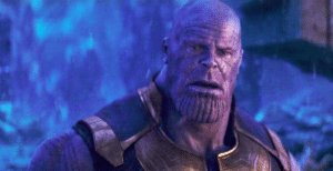 Thanos Shocked Thanos meme template