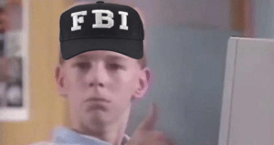 FBI kid thumbs up Stock Photo meme template