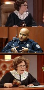 Judge Trudy (blank template) Judge meme template