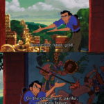 On one hand gold, on the other hand painful agonizing failure  meme template blank El Dorado, Disney