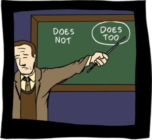 Professor Explains Does Not, Does Too Opinion meme template
