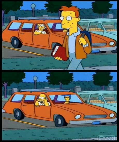 Meme Generator - Homer Yelling at Person in car (blank ...
