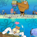 Im ready im ready, no you aint  meme template blank Sandy, Francis the fish