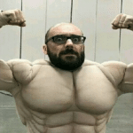 Strong Vsauce  meme template blank Anchor arms, YouTube, muscles