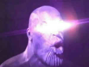 Thanos Laser Eyes Thanos meme template