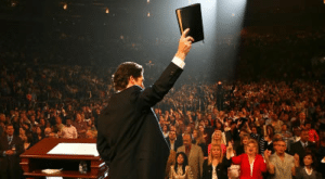 Holding up bible Opinion meme template