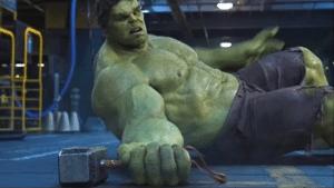 Hulk trying to pick up hammer Avengers meme template