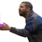 Drake Handing over the L  meme template blank