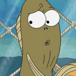 Fish surprised / scared / disturbed Spongebob meme template blank Fred the fish