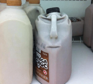 Angry Milk Face meme template
