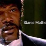 Stares Motherfuckerly  meme template blank Samuel L. Jackson