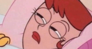 Dexters mom waking up Waking meme template