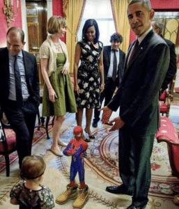 Obama pointing to Spiderman Obama meme template
