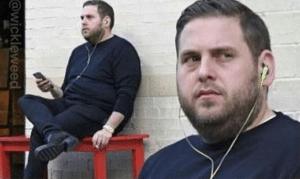 Jonah Hill listening to music Music meme template