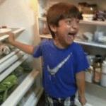Crying kid looking in fridge Looking meme template