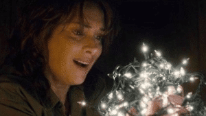 Winona Ryder looking at lights Stranger Things meme template