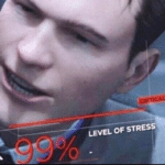 Level of Stress 99 Percent Gaming meme template blank