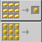 Minecraft combining gold (blank template) Gaming meme template blank