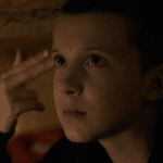 Eleven gun to head Stranger Things meme template blank