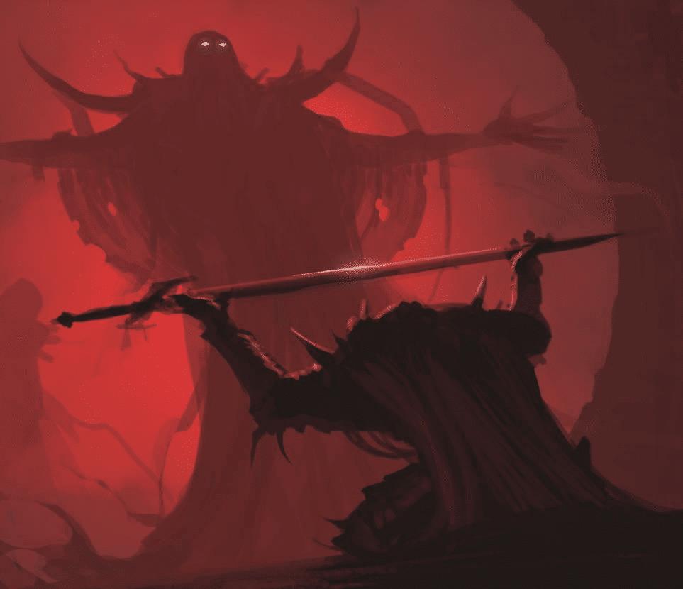 Giving sword to giant monster  meme template blank