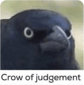 Crow of Judgement Angry meme template