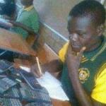 Black kid looking at calculators Looking meme template