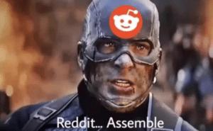 Captain America 'Reddit assemble' Avengers meme template
