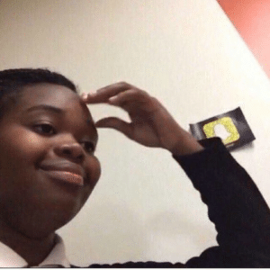 Black girl touching forehead IRL meme template