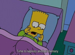 Bart 'Time to repress another memory' Bart meme template
