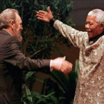 Nelson Mandela hugging  meme template blank