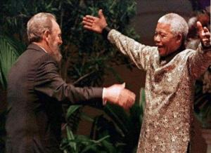 Nelson Mandela hugging Hugging meme template