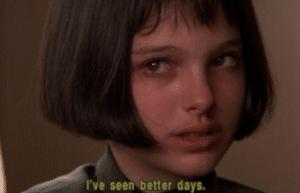Young Natalie Portman 'Ive seen better days' Sad meme template