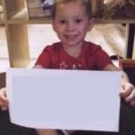 Gavin holding sign  meme template blank