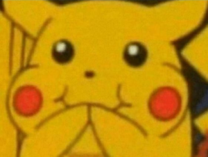 Pikachu trying not to laugh Pikachu meme template