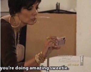Kris Jenner 'Youre doing amazing sweetie' Pokemon meme template