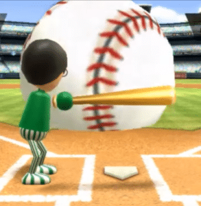 Wii sports giant baseball Gaming meme template