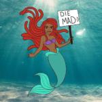 Black Arial Die Mad Sign  meme template blank Classic Disney