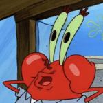 Mr. Krabs fake surprise Spongebob meme template blank
