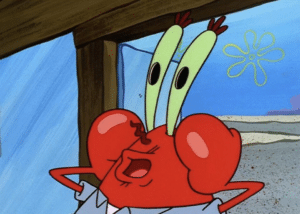 Mr. Krabs fake surprise Surprised meme template