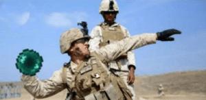 Soldier throwing ender peal Minecraft meme template