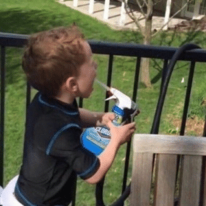 Gavin Spraying Clorox into his mouth Gavin meme template