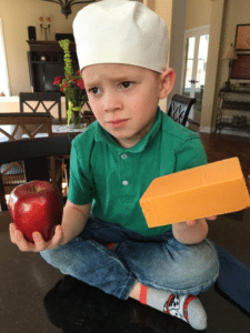 Gavin holding apple and cheese Gavin meme template